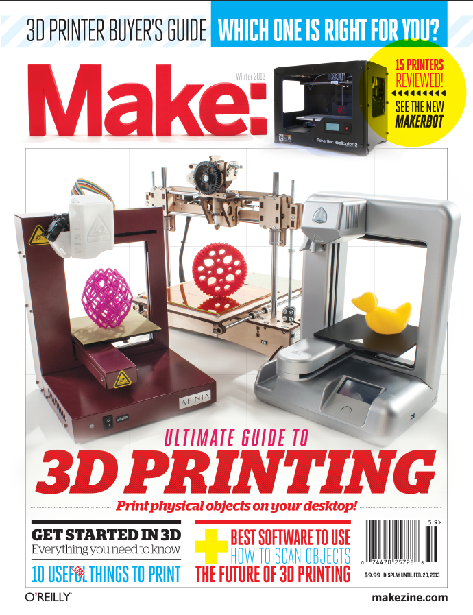 2013 Make Magazine 3D Printing Buyer's Guide