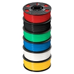 ABS PLUS Premium Filament, 1 kg, 6-Pack,Blk,White,Red,Yellow,Blue,Green