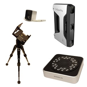 EinSCan-Pro 3D Scanner - Full Pack - Color Camera, Turntable, Tripod (Refurbished - 90 day warranty)